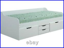 Seconique Dante Single Daybed with Drawers Under Bed Storage 3ft 90cm White