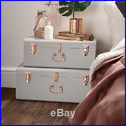 Brilliant Shabby Shic Storage Trunk Set Vintage Style Bedroom Blanket Download Free Architecture Designs Itiscsunscenecom