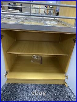 Single Cabin Bed With Storage Bedroom Childs Room No Mattress Slide Out Desk