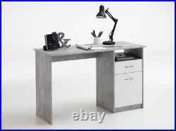 SlumberHaus'Urban' Home Office White & Grey Computer Laptop Desk with Storage