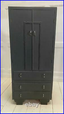 Small 1930 Wardrobe With Drawers Compactum Kids Bedroom Narrow Storage