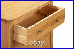 Small Oak Chest of 3 Drawers Wooden Low Kids Children Storage Cabinet