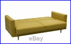 Sofa Bed GODIVO with Storage Container Sleep Function Fabric New