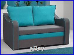 Sofa Bed SAMBA with Storage Container Sleep Function 2-Seater For Children New