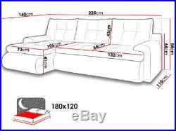 Sofa bed Calasetta sofa bed with storage Fabric/Leather (Black/Grey/White)
