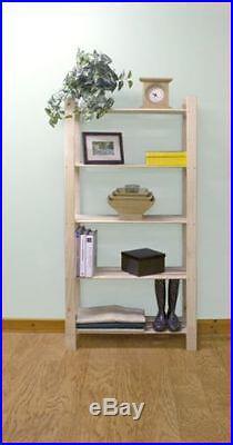 Solid Wood Wooden Storage Shelf Shelving Unit Bookcase Garage 3,4,5 Tier Slatted