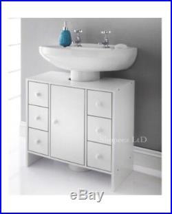 Spaceways Elegant Style 6 Drawer Under Sink Cabinet Unit Toiletry Towels Storage