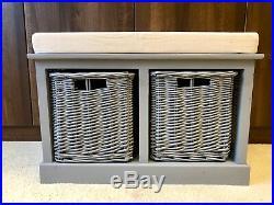 Storage Bench With Baskets Sturdy Hallway Cushion Seat Ready Assembled 2019