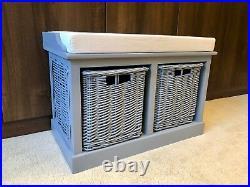 Storage Bench With Baskets Sturdy Hallway Cushion Seat Ready Assembled 2020