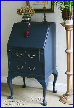 Stunning Vintage Painted Bureau, Writing Desk, Study Desk with Storage