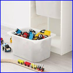 TROFAST Storage Combination for Childrens Play Plastic Boxes Grey 46x30x145 cm