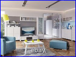 Tall Boy Chest 5 Drawers White Matt Tallboy Kaspian Modern Storage Unit Cabinet