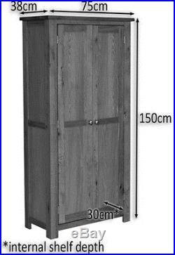 Tall Oak Storage Cupboard Wooden Filing Cabinet Shoe Organiser Bathroom Unit
