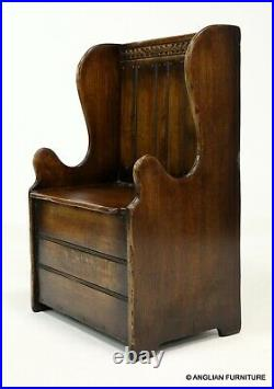 Titchmarsh and Goodwin Small Storage Settle Monks Bench FREE UK Delivery