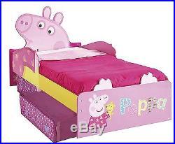 Toddler Child Bed Peppa Pig Underbed Storage Bedroom Kids Children Sleep Night