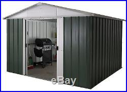 Tool Bike Storage Sheds Large Outdoor Metal Garden Heavy Duty Lawn Mower 10x13ft