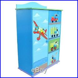 Toy Storage Cabinet Kids Chest Of Drawers Transport ...