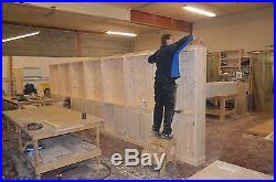 Traditional 7ft x 23ft Solid Pine Library Bookcase with Doors, Retail Display