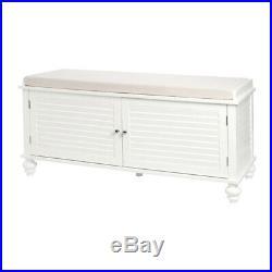 Upholstered Storage Bench Organizer Window Seat Bed End Cabinet Stand Hallway UK