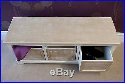 Useful Casamore Cotswold 3 Seat 3 Drawer Storage Bench White Wash Finish