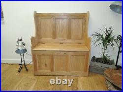 Vancouver Premium Oak Hallway/ Kitchen 2 Seater Monks Bench With Storage Nb208