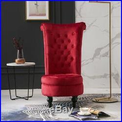 Velvet Dressing Table Stool Chair Accent Throne Fireside Chair High Back Storage