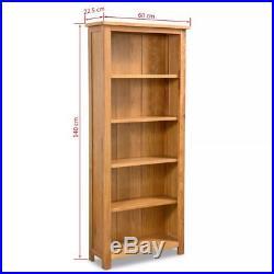 VidaXL Oak Bookcase Home Book Shelf Cabinet Display Unit Rustic Multi Sizes