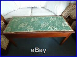 Vintage Bench Storage Upholstered Seat