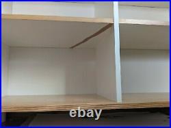 Vintage IKEA LO white birchplywood stackable storage unit trofast boxes children