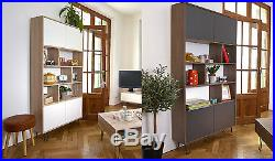 Vintage Industrial Bookcase Large Storage Unit Retro Display Shelving Cabinet