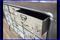 Vintage Industrial sideboard Retro style Storage Chest console Retro
