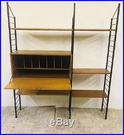 Vintage LADDERAX Mid Century Teak Shelving Storage System STAPLES Retro