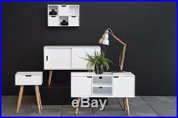 Vintage Sideboard Cabinet Cupboard Storage Furniture Retro White 2 Sliding Doors