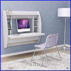 Wall Mounted Computer Desk Floating Laptop Table Bookshelf Hanging Storage Shelf