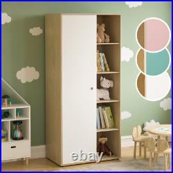 Wardrobe Bookcase Kids Clothing Storage Rails Shelfs Children Bedroom Furniture