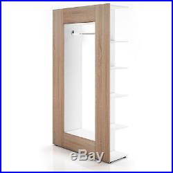 Wardrobe Wooden Storage Unit Shoe Rack Shelves Coat Rail Hooks Cabinet Bedroom