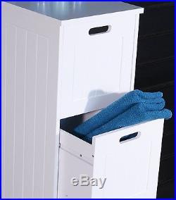 White Bathroom Cabinet Tall 3 Drawer Vanity Storage Unit Modern Chest Furniture