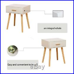 White Bedside Table Cabinets with Storage Drawer Side Table Nightstand Furniture