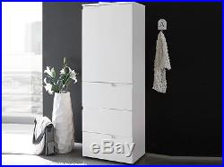 White Gloss Slim Storage Cabinet Unit Cupboard Drawers Tallboy Pantry Bathroom