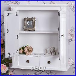 white wooden mirrored bathroom wall cabinet shabby vintage