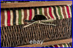 Wicker Basket Storage Unit Bedside Table Cabinet Chest Drawer Maize Shabby Chic