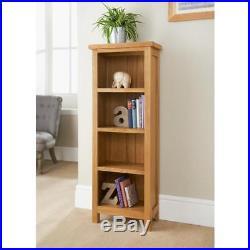 Wiltshire Tall Bookcase Oak Crafted Rustic Furniture Storage Unit Decor- G326395