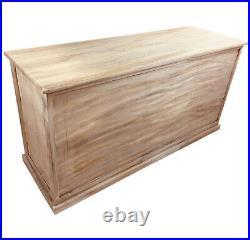 Wood Storage Bench 3 Baskets Organizer Cabinet Window Seat Hall Unit Assembled