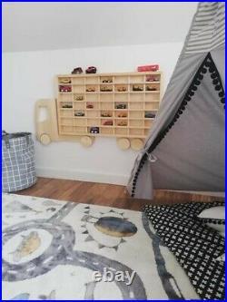 Wood Truck Display Shelf Toy car storage Matchbox Birthday gift idea for boys