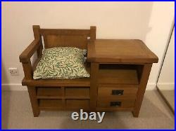 Wooden Hall Storage Bench Table Seat Solid Good condition