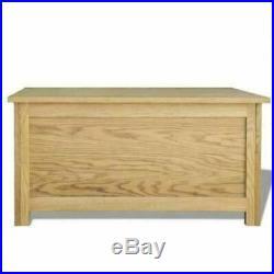 Wooden Storage Box Blanket Trunk Oak Toy Bedding Shoe Bench Cushion Ottoman Seat