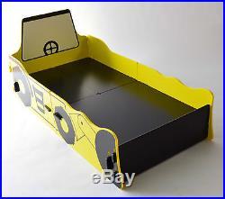 Yellow Black Bed Wardrobe Set Girls Childs Childrens Bedroom Furniture Storage